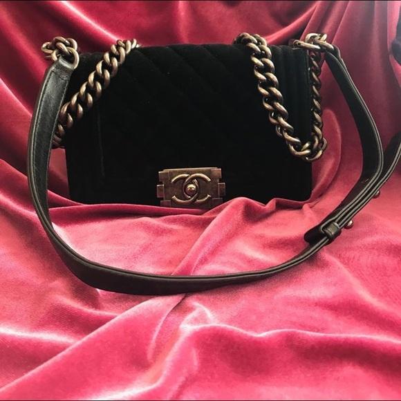 CHANEL Handbags - SOLD❌Chanel Velvet Small Le Boy Bag